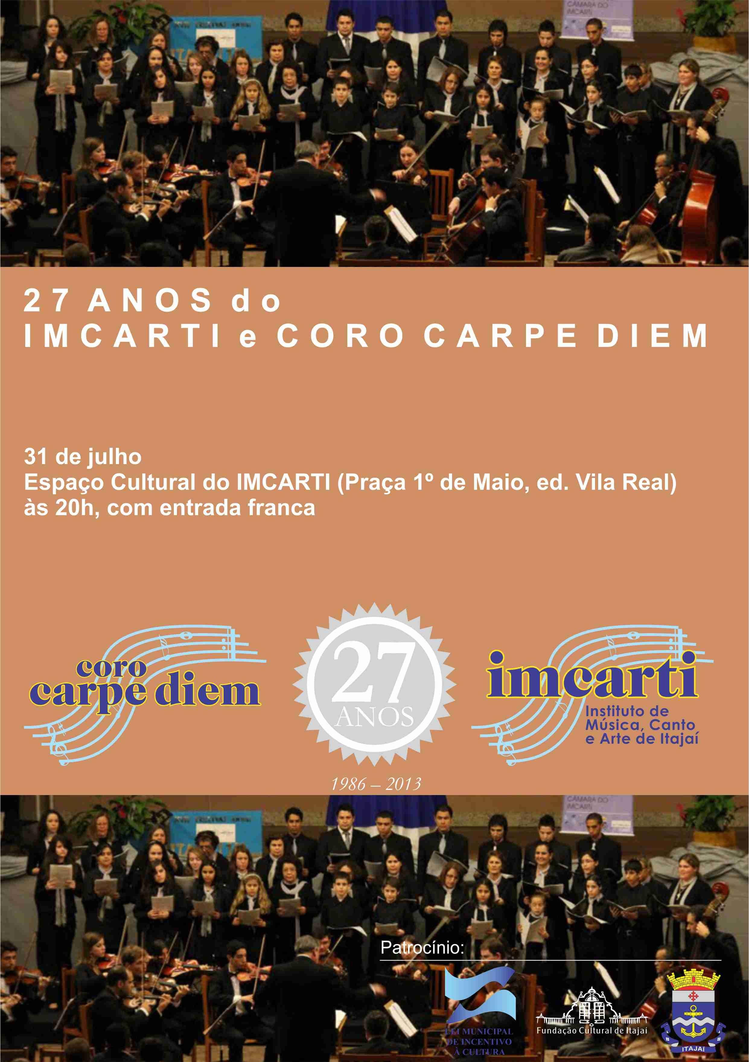 CARTAZ DE ANIVERSÁRIO IMCARTI E CORO 2013